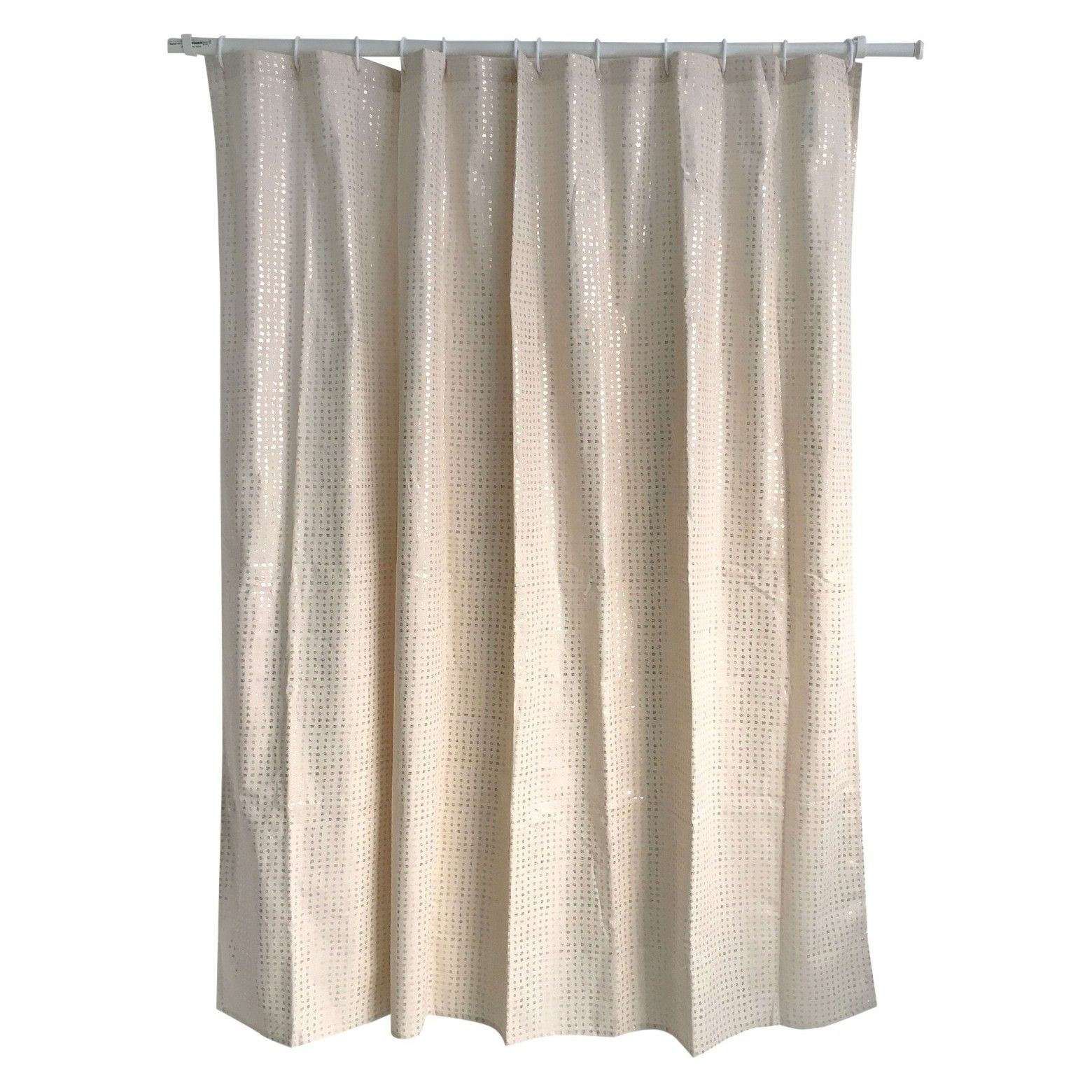 Let Your Bathroom Shine By Hanging Up The Metallic Shower Curtain