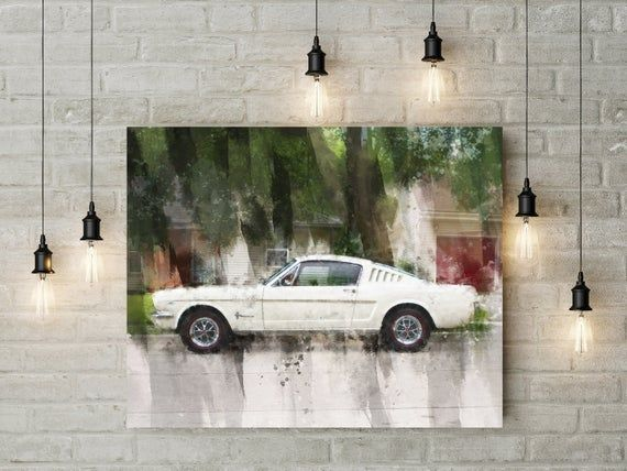 Custom Car Canvas | Father's Day | Car Print | Antique Car | Classic Car Print | Custom Classic Cars | Gift for Men | Gift for Dad | Mancave