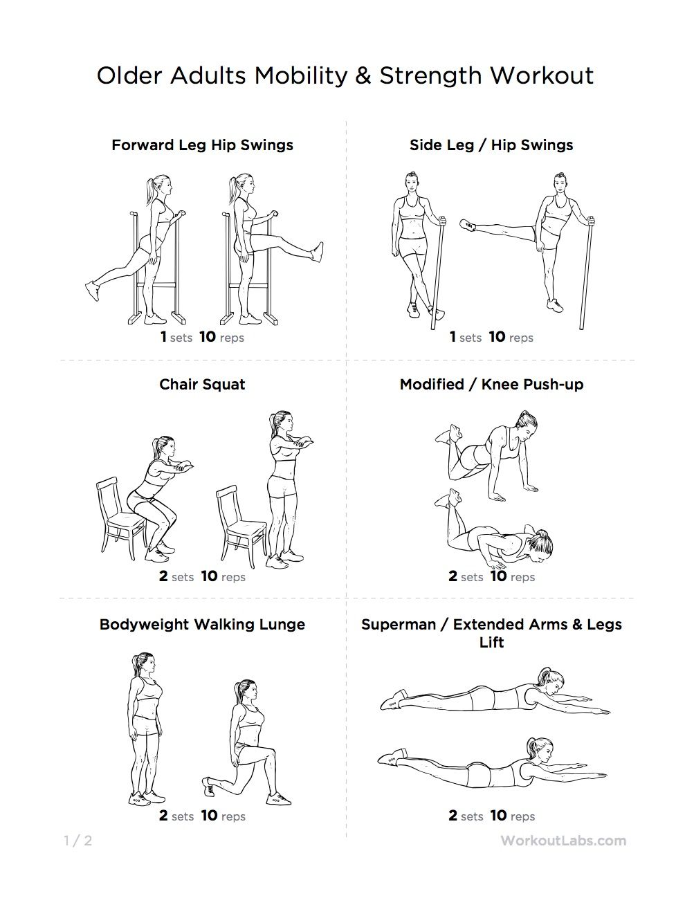 home exercise model chairs decorating seniors chair handout exercises for you aerobics