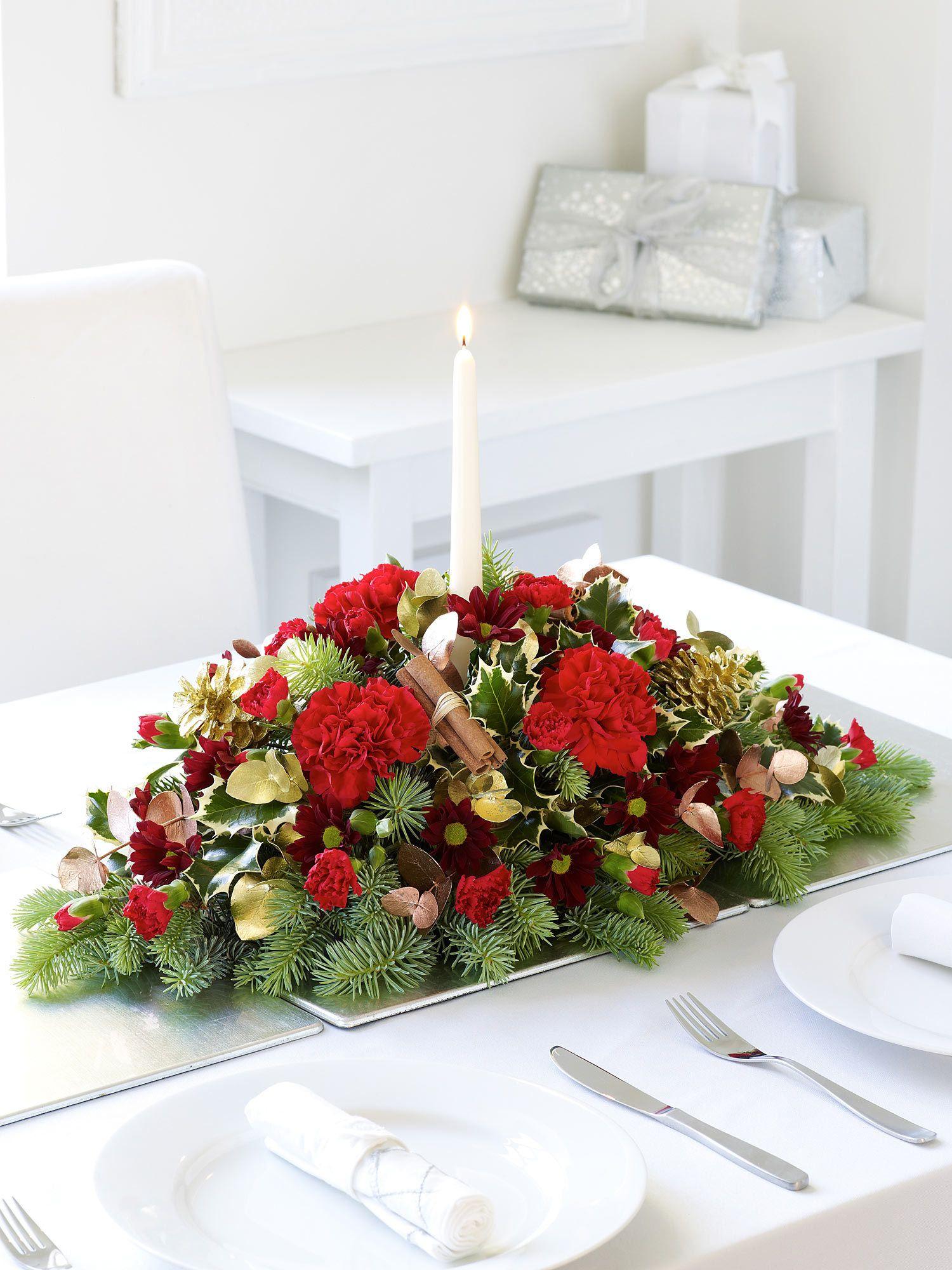 Christmas Candle Arrangement Interflora Christmas Flowers Candle Arrangements Christmas Flower Delivery