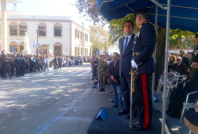 Στη Χίο, εκπροσωπώντας την Κυβέρνηση, για τον εορτασμό της 28ης Οκτωβρίου ο Νότης Μηταράκης