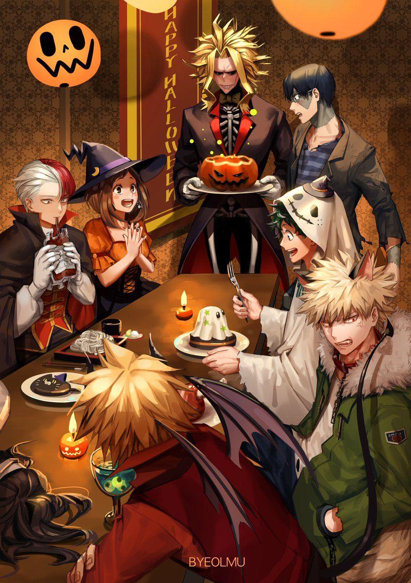 Loi On Twitter My Hero Hero Anime Halloween