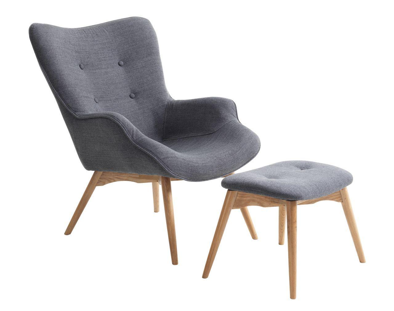 Armchair W Footstool Petersborg D Grey Jysk Armchair Wicker Armchair Chair