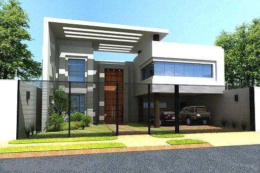 Fachadas de casas modernas de un piso buscar con google for Casa minimalista 120m2