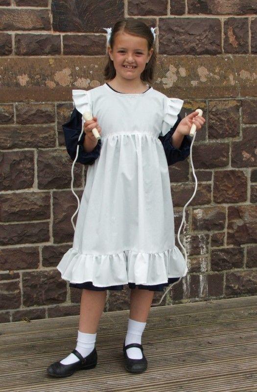 Victorian Olden Day School Girl Costume Girls Historical Book Week Fancy Dress