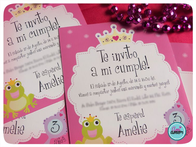 invitaciones on Pinterest   Princess Invitations, Fiestas ...