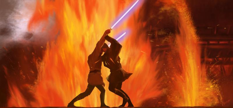 Duel On Mustafar By Innoyou Deviantart Com On Deviantart Star Wars History Star Wars Universe Star Wars Episodes