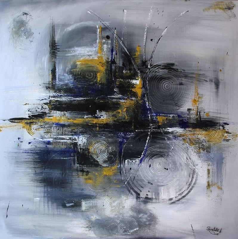 abstrakte malerei verkehrschaos gemalt blau grau wandbilder original gemalde kunst ku acrylmalerei abstrakt stier gemälde wohnzimmer