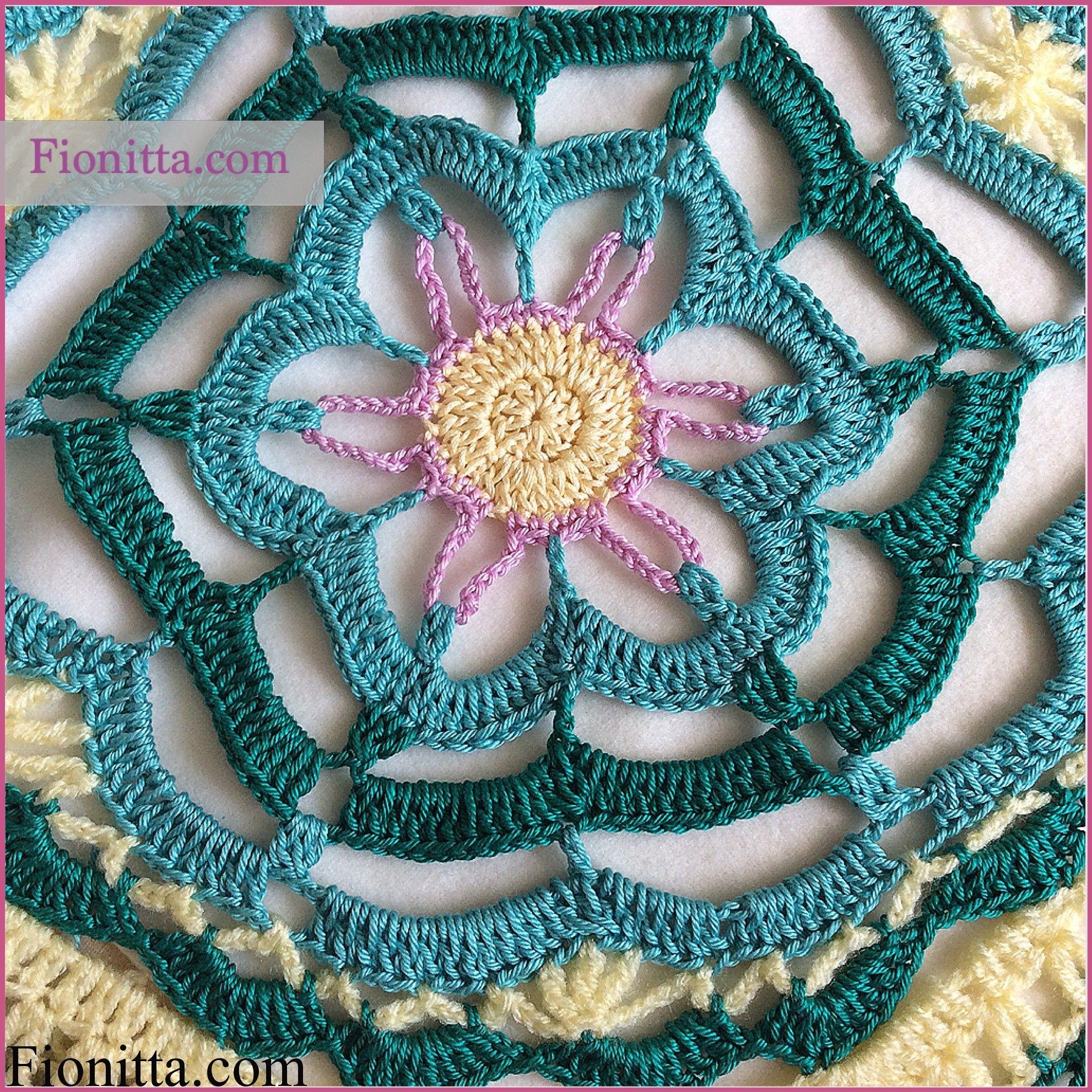 Lotus blanket | | Fionitta crochet | Motiivija. | Pinterest | Lotus ...