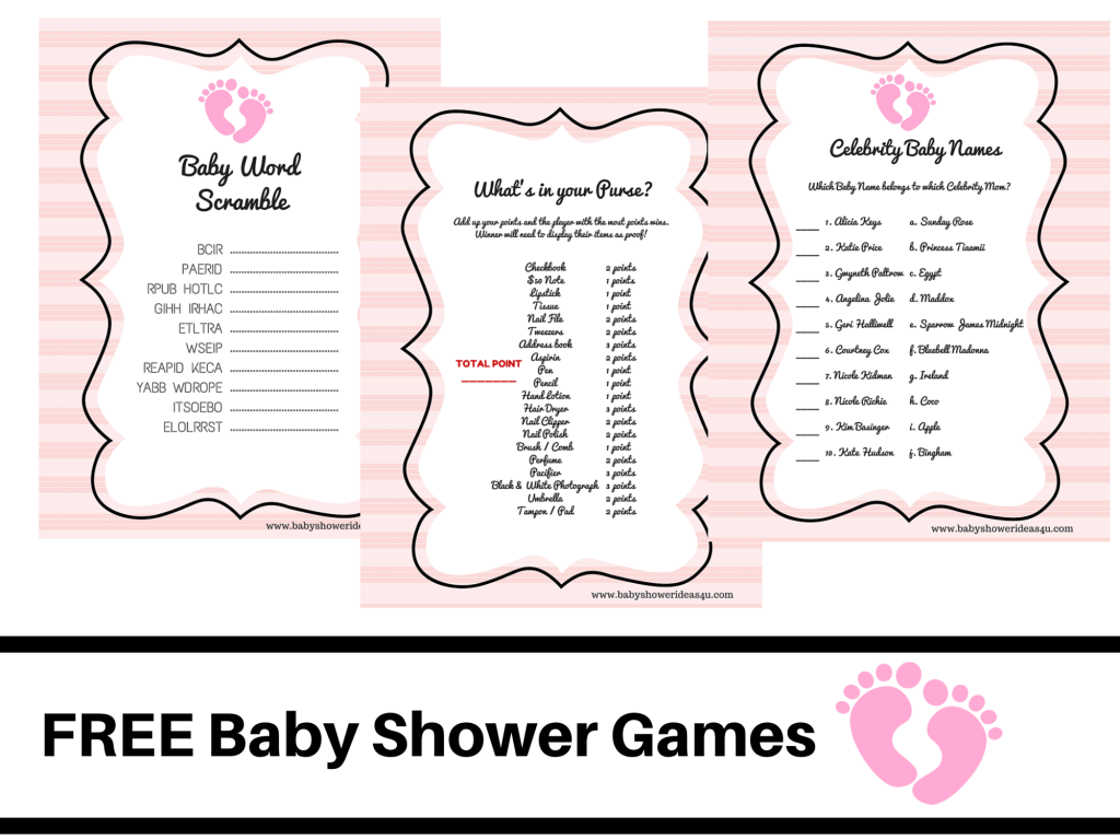 Free Printable Baby Shower Games Baby Word Scramble Baby