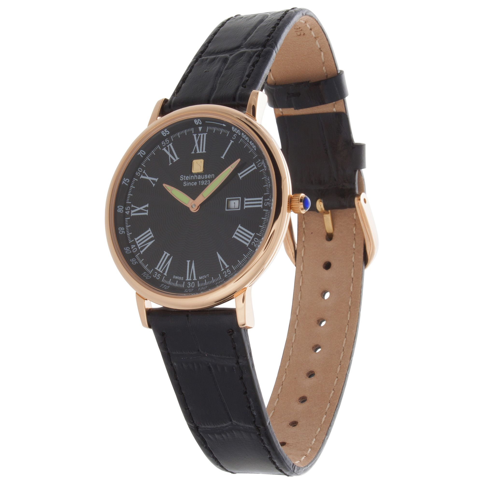 at leather watch jacqueline and rose tone three hand s fossil gold grey watches women pin