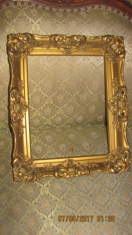 Antique Ornate Gold Gesso Fancy Victorian Baroque Designs ...
