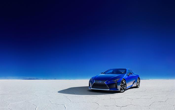 Luxury Lotus Motorcycle Hd Wallpapers And Desktop: Download Imagens 4k, Lexus LC 500h, Deserto, 2018, Azul
