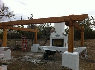 how to build an outdoor fireplace with cinder blocks ... on Building Outdoor Fireplace With Cinder Block id=26910