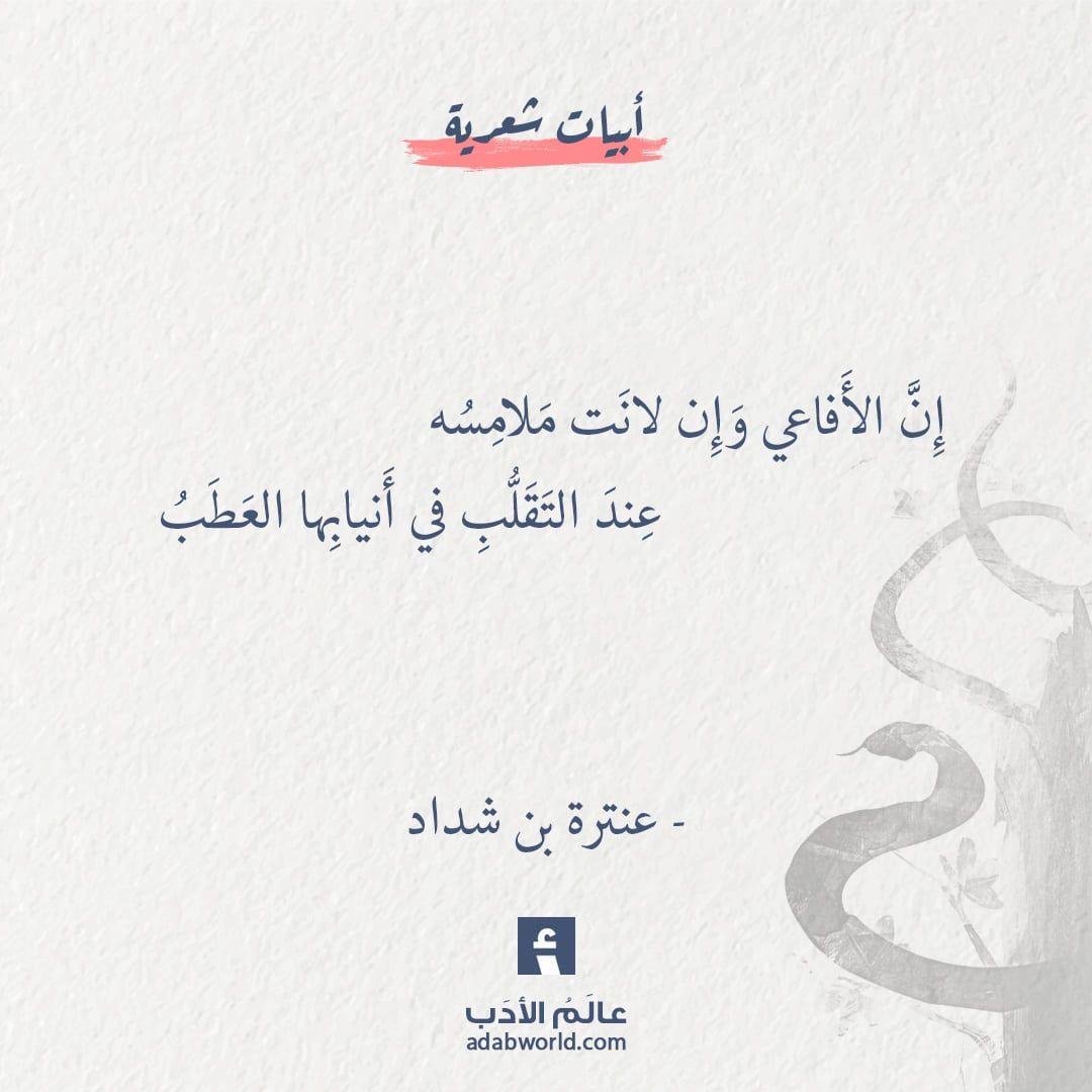 من اجمل ابيات البلاغة لـ عنترة بن شداد عالم الأدب Simple Love Quotes Words Quotes Wisdom Quotes