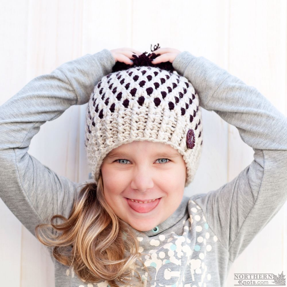 e7cb88c3844 Crochet hat pattern - Speckled Ridge Beanie (Hat) by Northern Knots - Pom  Pom hat - winter crochet hat - chunky crochet hat pattern - winter beanie  pattern ...