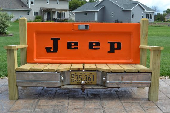 Enjoyable Jeep J10 Tailgate Bench By Tailgateguy On Etsy Tailgate Gmtry Best Dining Table And Chair Ideas Images Gmtryco