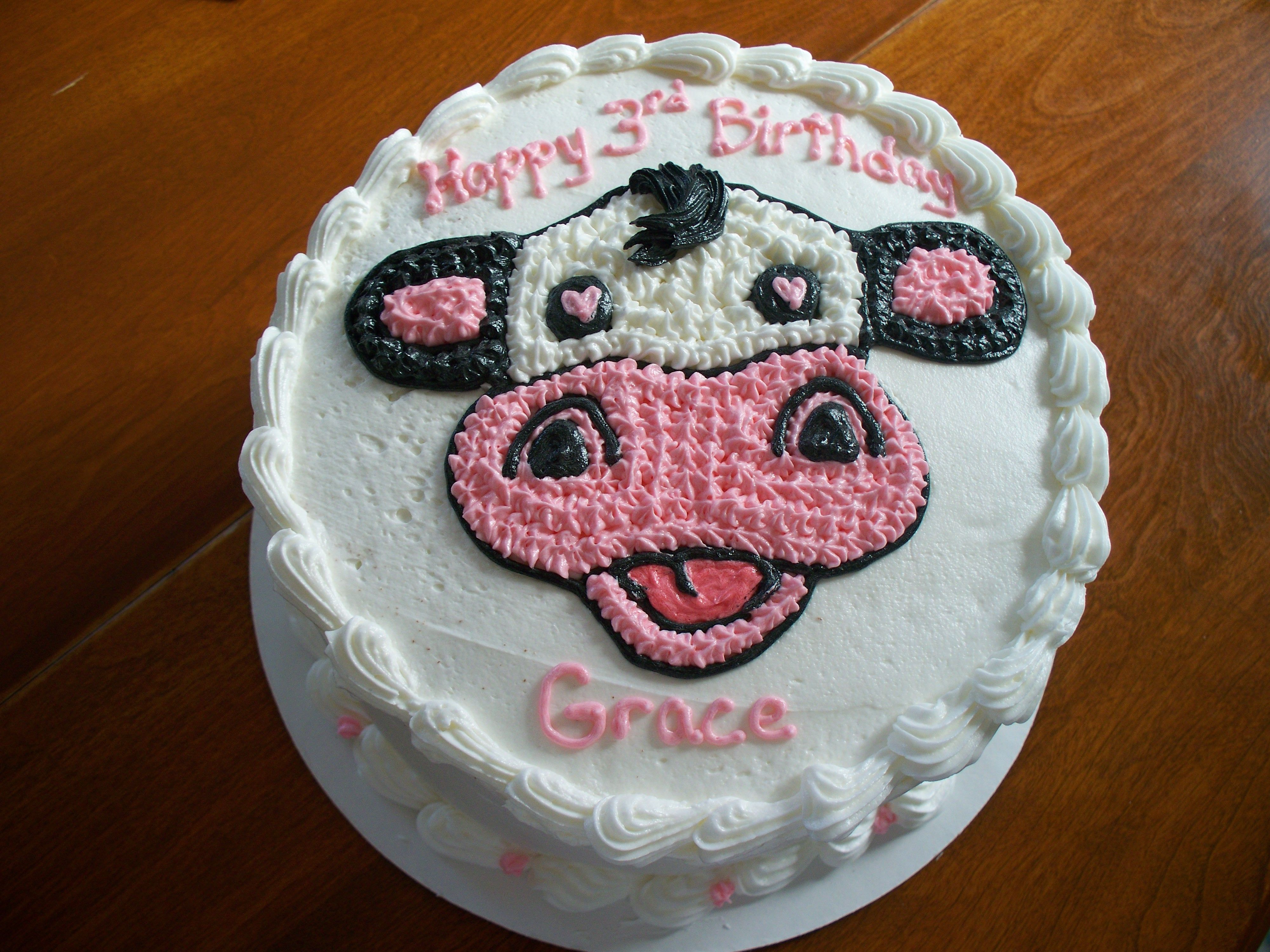 Chick Fil A Cow Birthday Cake Courtesy Of Amy Clapper Amy