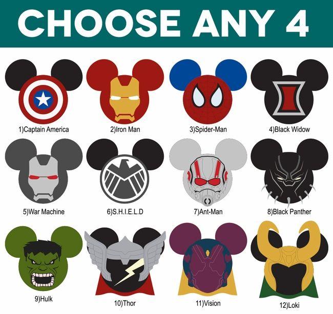 95edfa10fb9f Mickey Heads  Marvel Superhero Mouse Head Die Cuts Disney Cruise Door