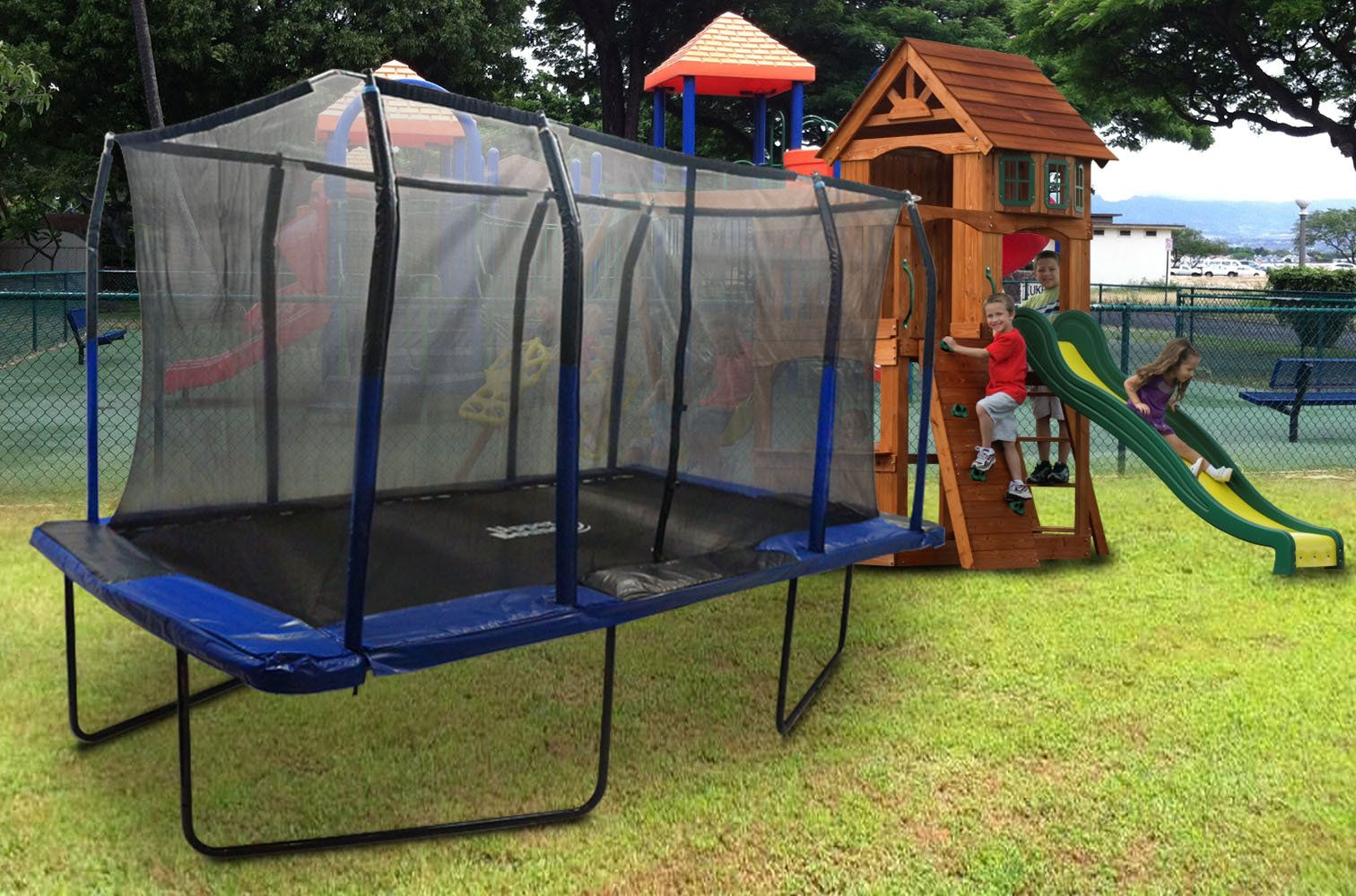 Freeport Park 15' Backyard: Above Ground with Safety ...
