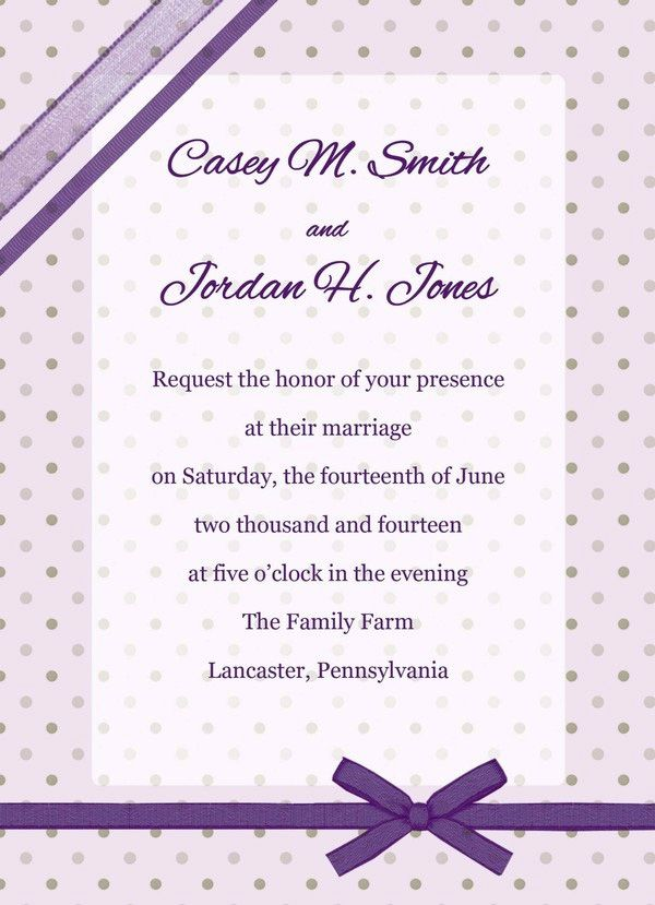 Sample Wedding Invitations Free  Fashionsup
