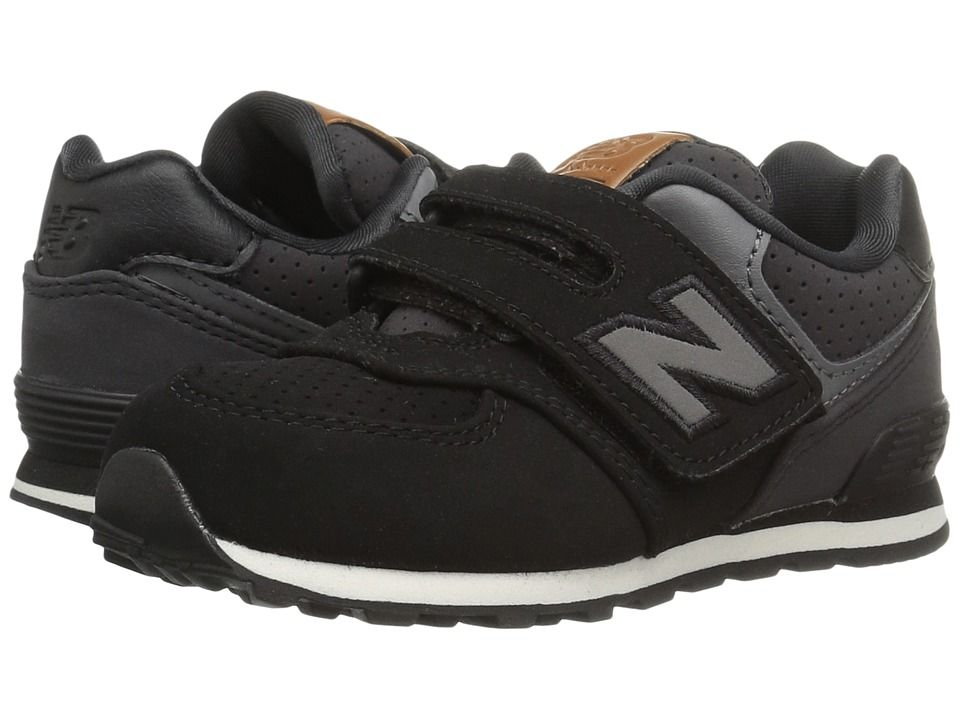 8282c492b617 New Balance Kids KV574v1 (Infant Toddler) Boys Shoes Black White 2 ...