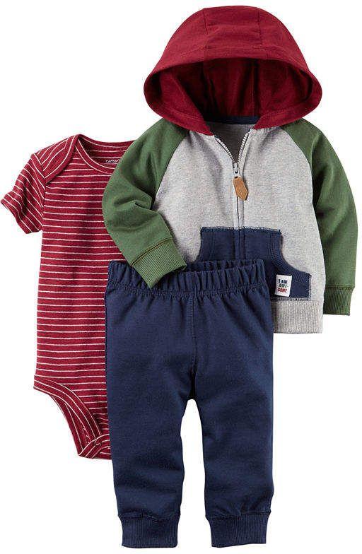f6c53d1c8 Carter's 3-pc. Stripe Pant Set Baby Boys | Bowen Jace | Carters baby ...