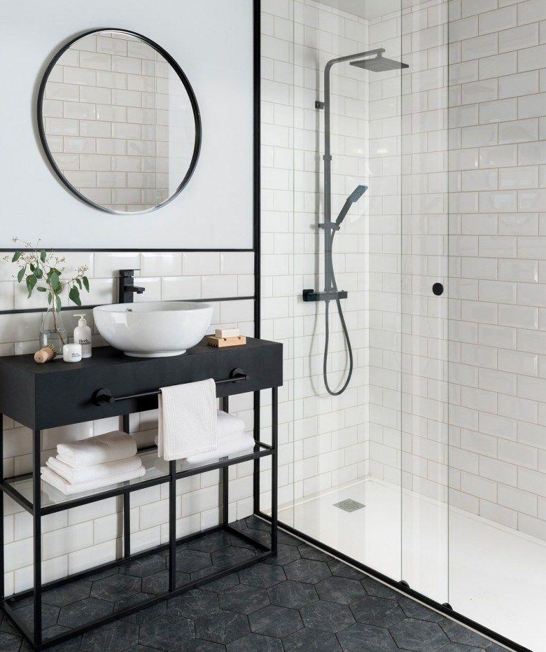 Nice Bevelled Tiles Pattern White Metro Tiles Wall Tiles Topps Tiles White Bathroom Tiles Bathroom Tile Designs Bathroom Interior Design