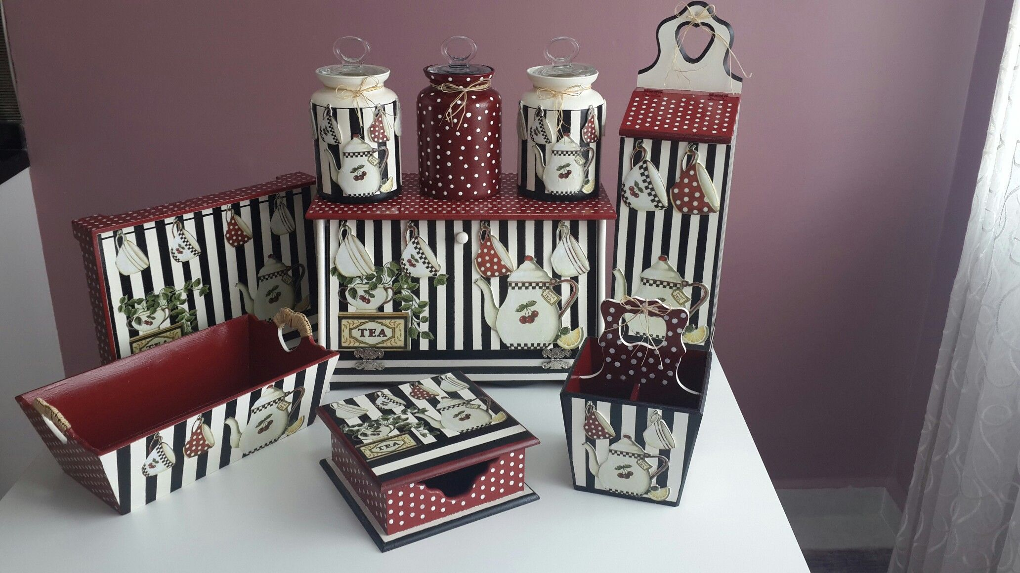 Ahşap Boyama Mutfak Seti Sanat Eserlerim Decoupage Home