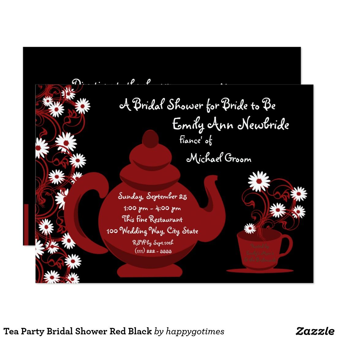 Awesome Tea Party Wedding Shower Invitations Collection ...