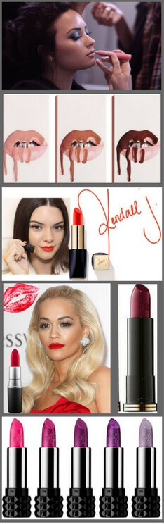 Check out the different shades of lipstick that your favorite celebrity uses. #makeup #lipproducts #celebritylipstick #celebritymakeup #lipstick