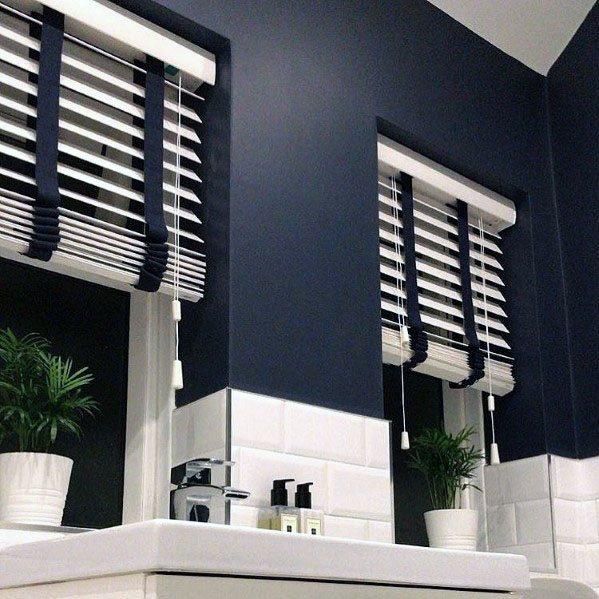 Top 50 Best Blue Bathroom Ideas - Navy Themed Interior ...