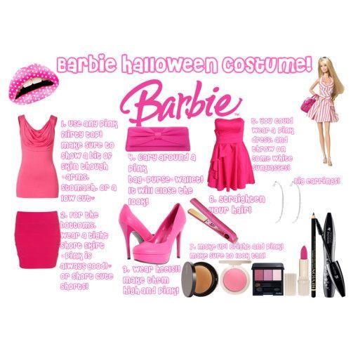 Barbie Halloween Costume HALLOWEEN COSTUMES Pinterest Barbie - barbie halloween costume ideas