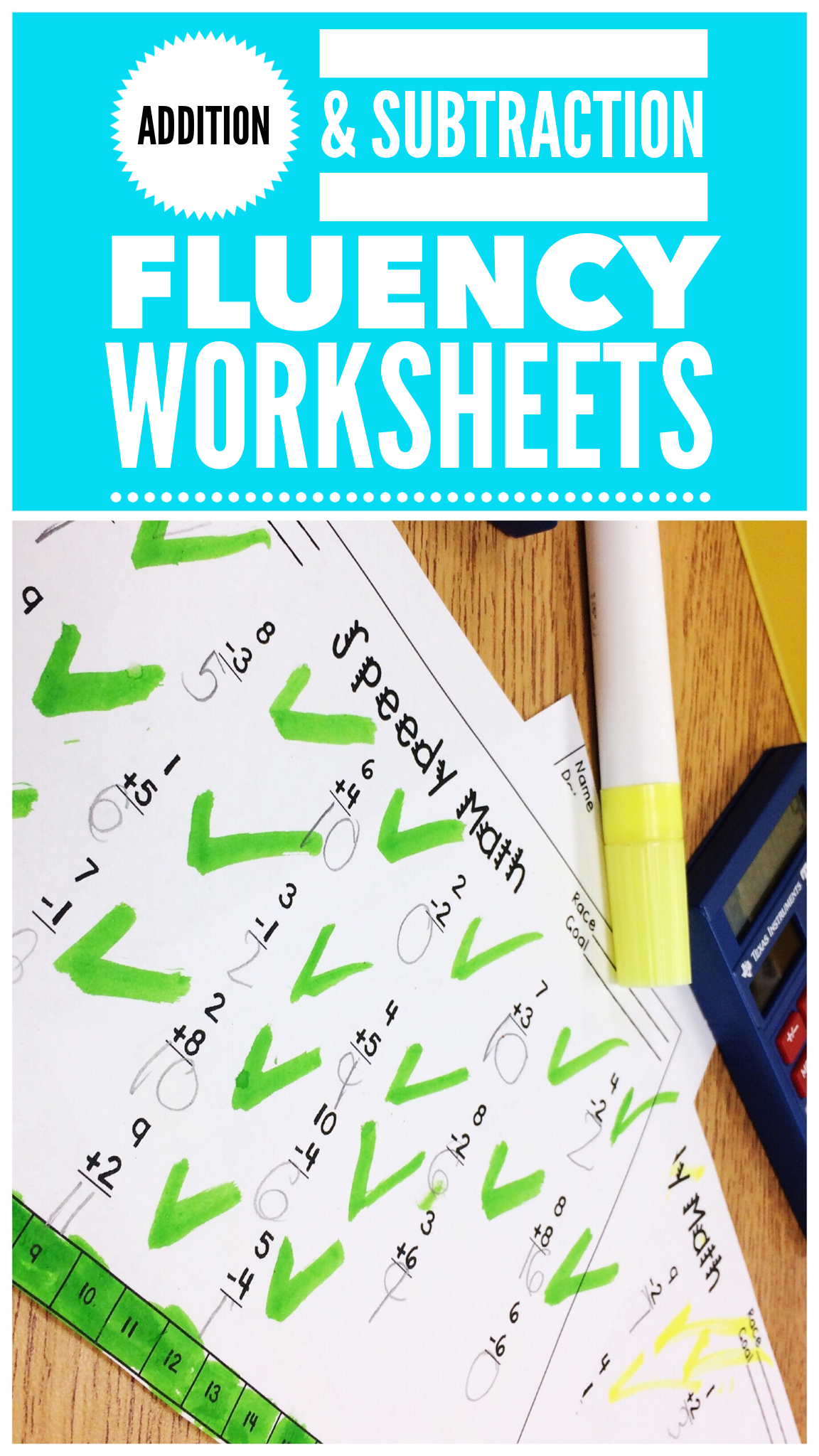 Fact Fluency Worksheets