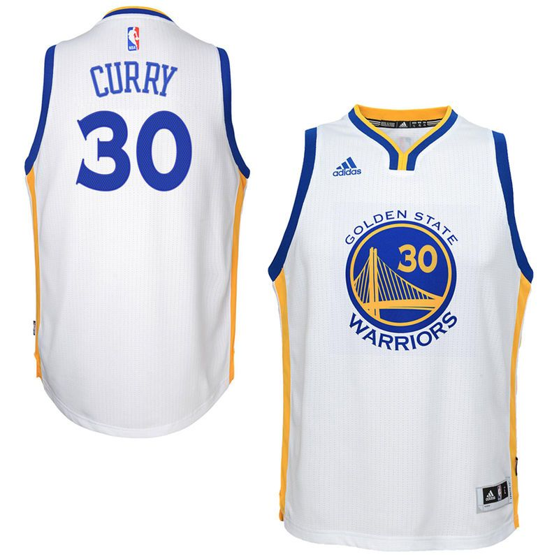 7b1a1ff1637 Stephen Curry Golden State Warriors adidas Youth 2014-15 New Swingman Home  Jersey – White