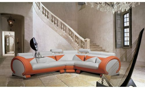 Hokku Designs Delano Sectional Futuristic Design Sofa Furniture