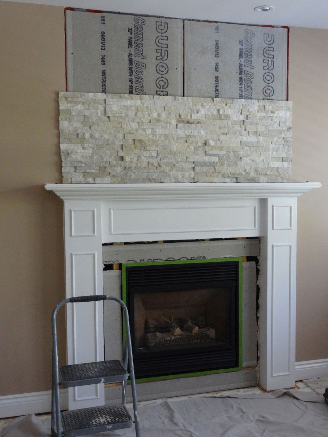 Fireplace Refacing Ideas Stone Refacing Gas Fireplace