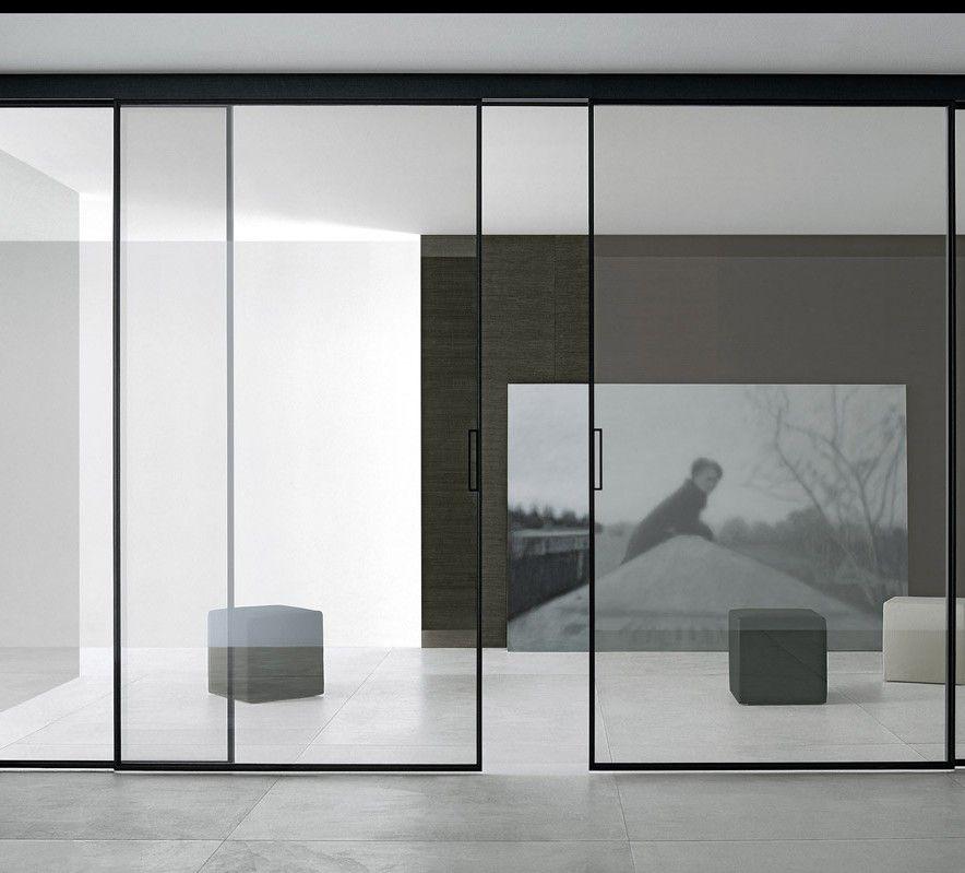 rimadesio-schiebetueren-3 Einrichtung Pinterest Schweben - wohnzimmer mit glaswnde