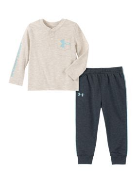 Photo of Under Armour® Baby Boys Knit T-Shirt and Jogger Pants Set