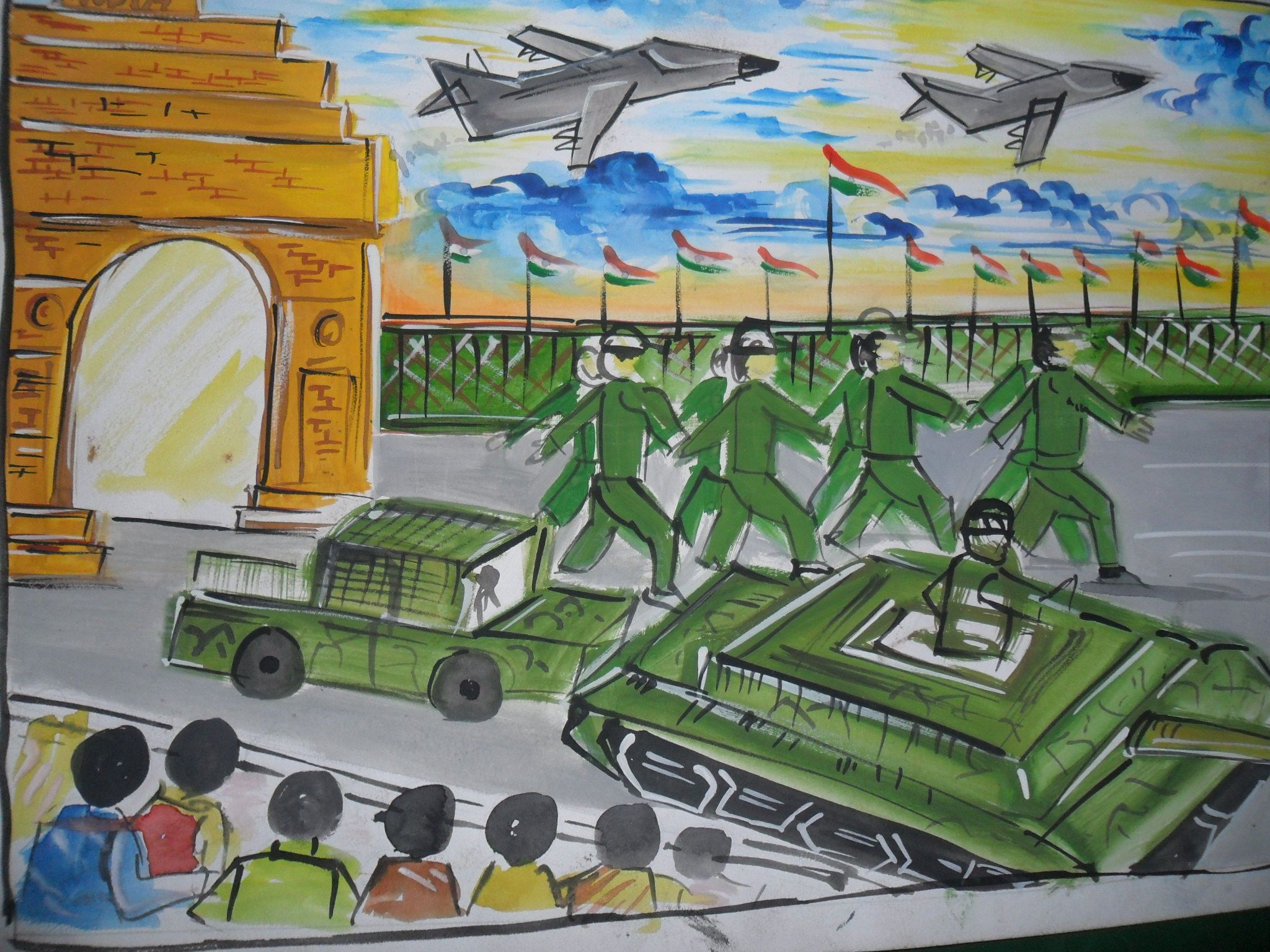 Republic Day Of India Drawing Competition