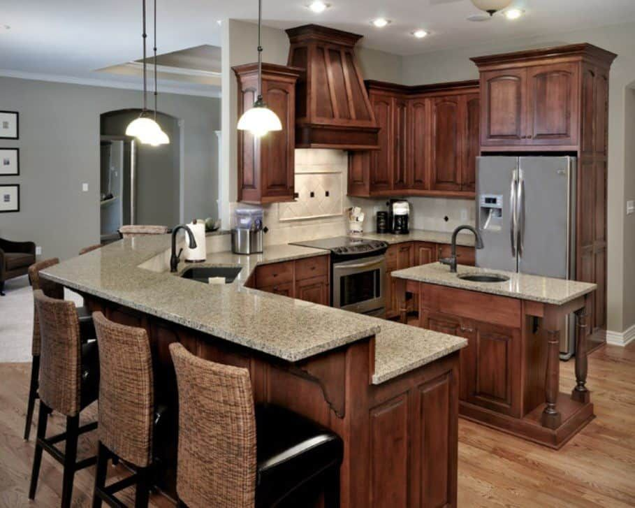 Stained oak cabinets | Tuscan kitchen, Stained kitchen ...