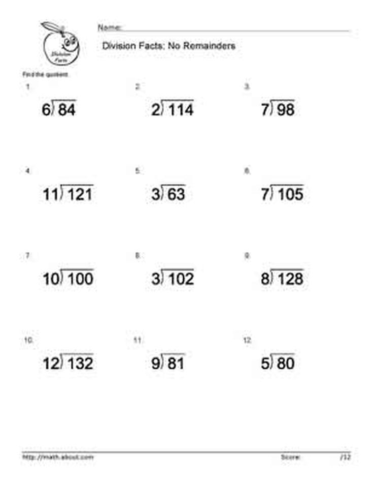 Math Worksheets basic skills math worksheets : Boost Your Children's Math Skills With These Basic Division ...