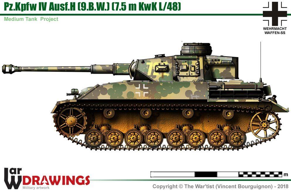 Pz.Kpfw IV Ausf.H w/inclined armor Guerre mondiale, Char
