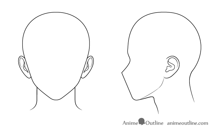 How To Draw Anime And Manga Male Head And Face Animeoutline Anime Drawings Side Face Drawing Anime Drawings Tutorials