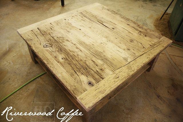 Rustic Wood Coffee Table Ontario 6