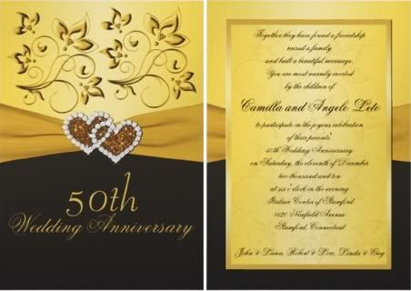 50th anniversary photo invitation cards