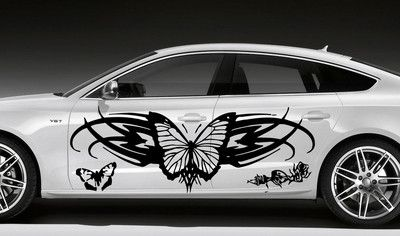 Butterflies Pattern Design CAR VINYL SIDE GRAPHICS DECALS N - Vinyl decals cartribal hearts decal vinylgraphichood car hoods decals and