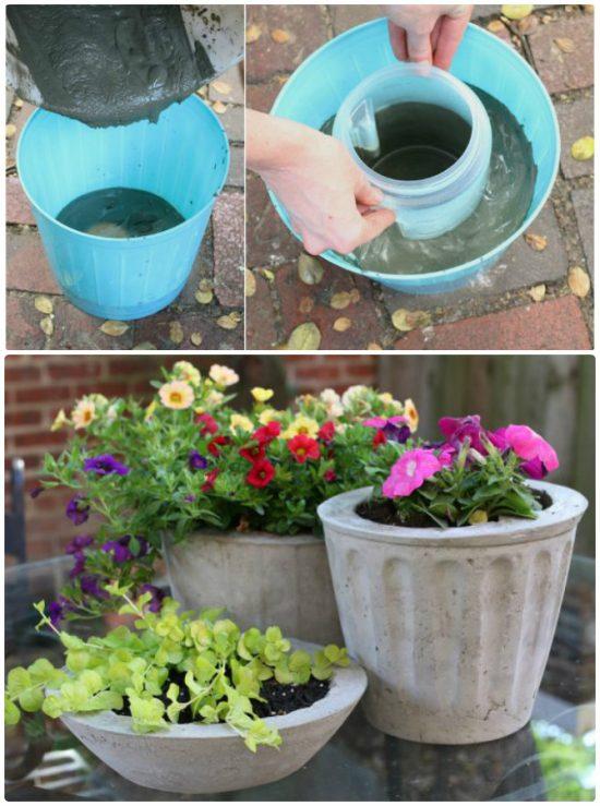 Concrete Pots Ideas Diy Planters Designs Video Instructions Diy