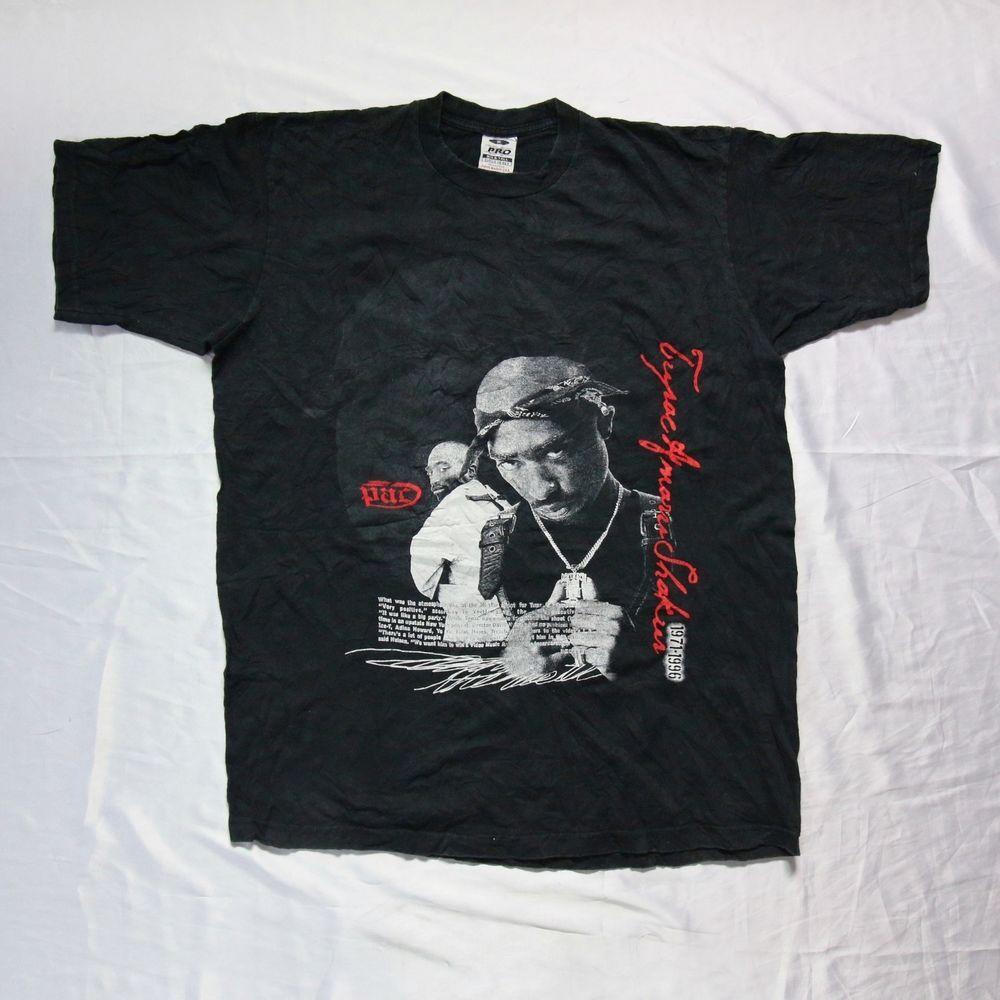 Black t shirt xl - Vintage 90s 2pac Tupac Amaru Shakur Makaveli Memorial Rap Hip Hop Black T Shirt Xl Http