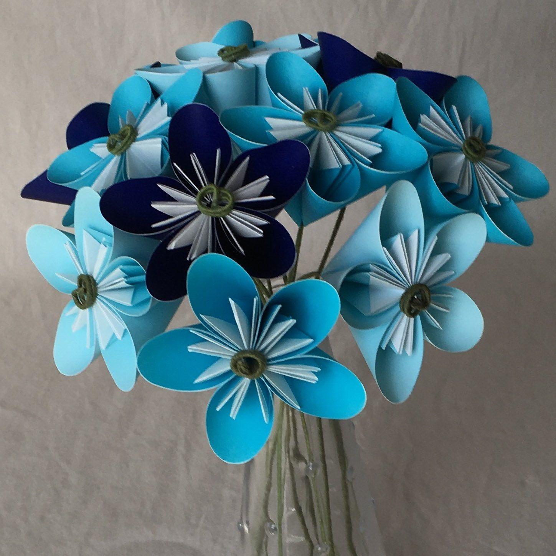 Custom Origami Flower Bouquet Anniversary Gift Valentines Day